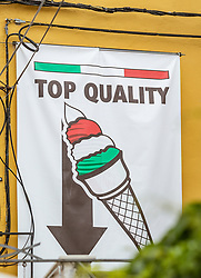 THEMENBILD - Eis Symbol - Top Quality, aufgenommen am 28. Juni 2018 in Fazana, Kroatien // Ice Cream Icon - Top Quality, Fazana, Croatia on 2018/06/28. EXPA Pictures © 2018, PhotoCredit: EXPA/ JFK