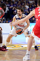 Real Madrid's Sergio Llull during Turkish Airlines Euroleague match between Real Madrid and Crvena Zvezda Mts Belgrade at Wizink Center in Madrid, Spain. March 10, 2017. (ALTERPHOTOS/BorjaB.Hojas)