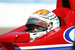 February 9, 2018 - Avondale, Arizona, United States of America - February 09, 2018 - Avondale, Arizona, USA: Matheus Leist (4) looks over as his crew prior to taking to the track for the Prix View at ISM Raceway in Avondale, Arizona. (Credit Image: © Justin R. Noe Asp Inc/ASP via ZUMA Wire)