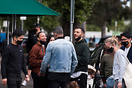 Locals are seen at the South Melbourne Market during COVID-19 in Melbourne, Australia. Melbourne held hostage to a Premier unwilling to open up. After promising businesses and Melbournians that 'significant' announcements over easing restrictions would be made today, Premier Daniel Andrews once again backtracked on his commitments and has delayed Melbourne's reopening. This comes as the Northern Metro cluster continues to grow. (Photo by Dave Hewison/Speed Media)