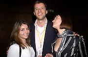 Vazzi chamberlain and Kate Bernard, 'Live Forever' Britpop film party, Atlantic Bar and Grill, 3 March 2003. © Copyright Photograph by Dafydd Jones 66 Stockwell Park Rd. London SW9 0DA Tel 020 7733 0108 www.dafjones.com