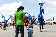 Father and sun watching some monsters at the Couleur Cafe Festival 2012