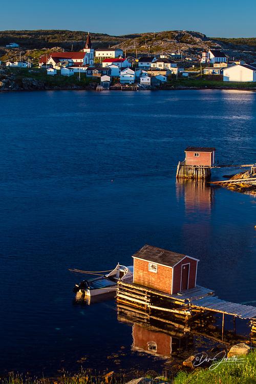 Harbour buildings, Fogo, Newfoundland and Labrador NL, Canada