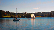 Blind Bay, Shaw Island, San Juan Islands, Puget Sound, Washington, State, USA,