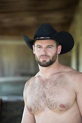 shirtless muscular cowboy