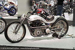 Michael Naumann & Olli Schulze's (of Schermbeck, Germany) custom Ironhead Sportster at the AMD World Championship of Custom Bike Building show in the custom themed Hall 10 at the Intermot Motorcycle Trade Fair. Cologne, Germany. Tuesday October 4, 2016. Photography ©2016 Michael Lichter.