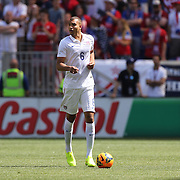 John Brooks, USA, in action during the US Men's National Team Vs Turkey friendly match at Red Bull Arena.  The game was part of the USA teams three-game send-off series in preparation for the 2014 FIFA World Cup in Brazil. Red Bull Arena, Harrison, New Jersey. USA. 1st June 2014. Photo Tim Clayton