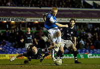 Photo: Glyn Thomas.<br />Birmingham City v Reading. The FA Cup. 07/02/2006.<br />Birmingham's Mikael Forssell (C) scores his side's opening goal.