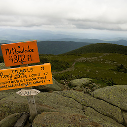 The summit of Mount Moosilauke in New Hampshire USA