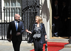 © licensed to London News Pictures. LONDON, UK  25/05/11. William Hague and Hillary Clinton leave Downing Street. Barak Obama and David Cameron meet in Downing Street during US President Obama's first State Visit to the United Kingdom. Please see special instructions. Photo credit should read Stephen Simpson/LNP