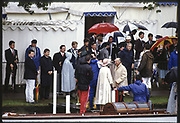 Henley, Great Britain,  Mooring Bays outside the Stewards Lawn,1988 Henley Royal Regatta, Henley Reach, River Thames, Annual Event. [Mandatory credit: Peter Spurrier/Intersport Images]