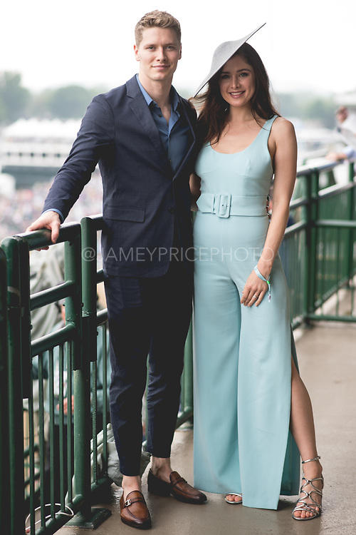 May 4, 2019: 145th Kentucky Derby at Churchill Downs. Indycar driver  Josef Newgarden and fiancé Ashley