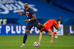 NICE, FRANCE - Wednesday, June 2, 2021: France's Paul Pogba (L) challenges Wales' Neco Williams during an international friendly match between France and Wales at the Stade Allianz Riviera ahead of the UEFA Euro 2020 tournament. (Pic by Simone Arveda/Propaganda)