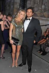 LADY ALEXANDRA SPENCER-CHURCHILL and FLORENT DEUX at The Global Party held at The Natural History Museum, Cromwell Road, London on 8th September 2011.
