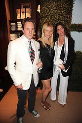 Left to right, HARRY BEECHER, GWYNETH PALTROW and ELIZABETH SALTZMAN at the Ralph Lauren Wimbledon Party held at Ralph Lauren, 1 New Bond Street, London on 17th June 2010.