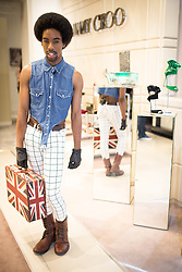 "© Licensed to London News Pictures . 10/10/2013 .Manchester , UK . "" JSKY "" (correct) , 26 , from Bury (singer and blogger) in Selfridges . Vogue Fashions Night Out in Selfridges , Exchange Square , Manchester City Centre . Photo credit : Joel Goodman/LNP"