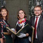 25.08. 2017.                                                      <br /> Limerick City and County Council Archives have become available in digitised Online platform. <br /> Pictured at Lissalta House in the Limerick City and County Council Archive were, Jacqui Hayes, Limerick City and County Council Archivist, Sharon Slater, Limerick City and County Council Historian and William O'Neill, Limerick Archives and UL Scholar. Picture: Alan Place