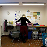 Arhus, Denmark, February 6, 2010. Bofællesskabet Rumlepotten, co-housing community in Holme, Arhus, Denmark. Settled since 1985. Here are living 32 different familiar group and individual in 32 apartment.<br />