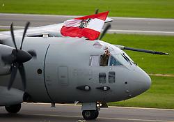 """02.07.2011, Fliegerhorst Hinterstoisser, Zeltweg, AUT, AIRPOWER 2011, im Bild C - 27 während der ,,Airpower 11"""" Flugshow in Zeltweg, Österreich. // c - 27 during the """"Airpower 11"""" air show on the Air Base Hinterstoisser in Zeltweg, Austria on 2011/07/01, EXPA Pictures © 2011, PhotoCredit: EXPA/ M. Kuhnke"""