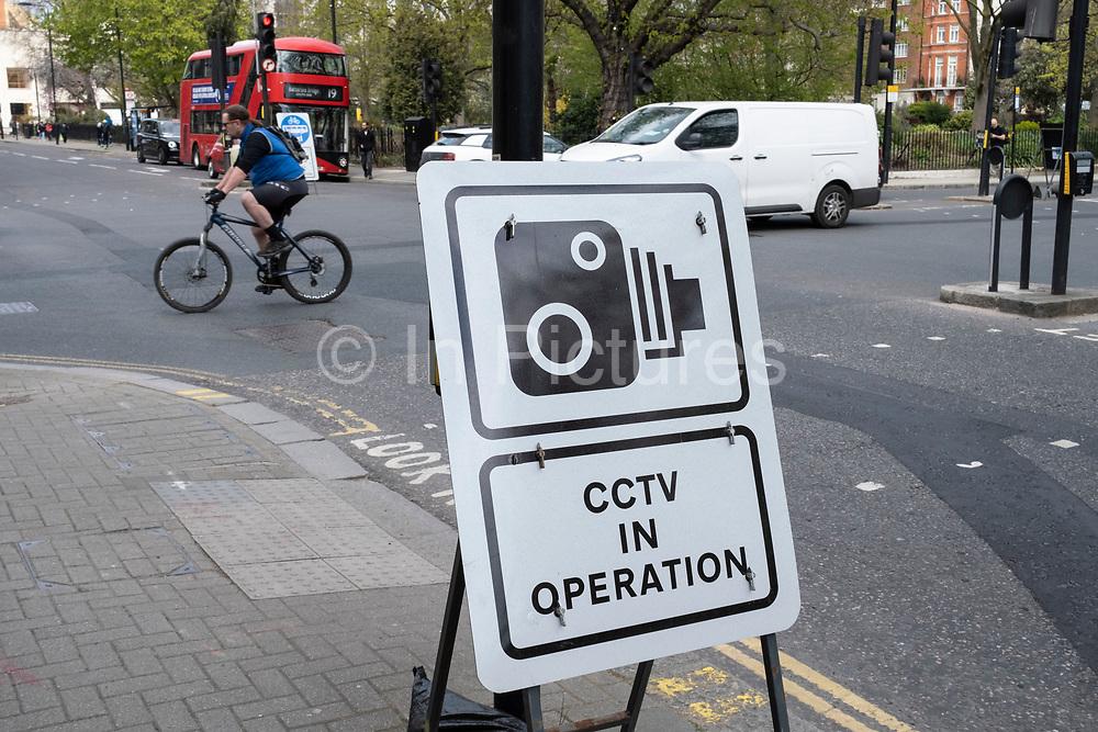 CCTV in operation in Chelsea on 14th April 2021 in London, United Kingdom.