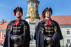 Celebrations take place in Zagreb to commemorate the independence of Croatia from Yugoslavia