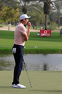 Ross Fisher (ENG) on the 9th green during Round 2 of the Omega Dubai Desert Classic, Emirates Golf Club, Dubai,  United Arab Emirates. 25/01/2019<br /> Picture: Golffile | Thos Caffrey<br /> <br /> <br /> All photo usage must carry mandatory copyright credit (© Golffile | Thos Caffrey)