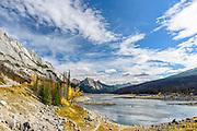 Landscape photographs of Medicine Lake, AB, Canada