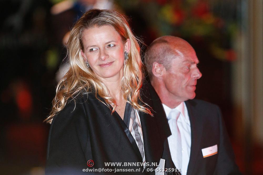 NLD/Utrecht/20130201 - Vertrek 75ste verjaardagfeest  Koninging Beatrix, Mabel Wisse Smit