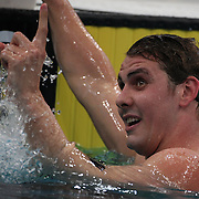 Ryan Napoleon winning the Men's 1500m Freestyle event during the Australian Swimming Championships and Selection Trials for the XIII Fina World Championships held at Sydney Olympic Park Aquatic Centre, Sydney, Australia on March 22, 2009. Photo Tim Clayton