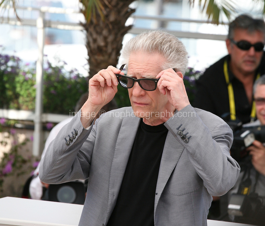 Director David Cronenberg at the Cosmopolis photocall at the 65th Cannes Film Festival France. Cosmopolis is directed by David Cronenberg and based on the book by writer Don Dellilo.  Friday 25th May 2012 in Cannes Film Festival, France.