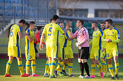 Players of Domzale during football match between NK Domzale and NK Celje in 17t Round of Prva liga Telekom Slovenije 2015/16, on November 8, 2015 in Sports park Domzale, Slovenia. Photo by Vid Ponikvar / Sportida