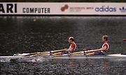Bled, Slovenia, YUGOSLAVIA. GBR LM2X. Bow, .Robert LUKE and Chris SKUSE. 1989 World Rowing Championships, Lake Bled. [Mandatory Credit. Peter Spurrier/Intersport Images]