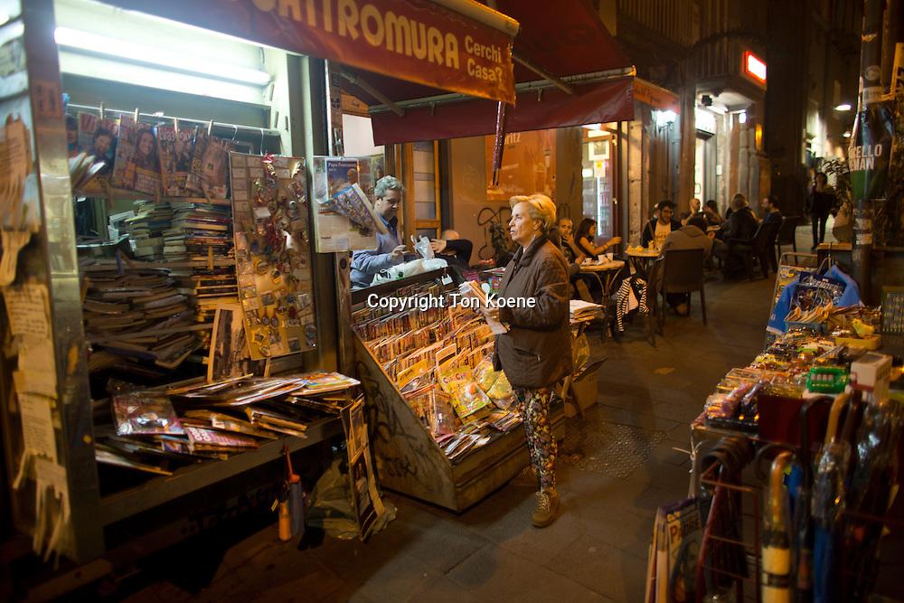 kiosk in spagnoli area of Napoli