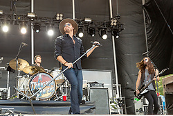 June 20, 2018 - Oshkosh, Wisconsin, U.S - MICHAEL HOBBY and GRAHAM DELOACH of A Thousand Horses during Country USA Music Festival at Ford Festival Park in Oshkosh, Wisconsin (Credit Image: © Daniel DeSlover via ZUMA Wire)
