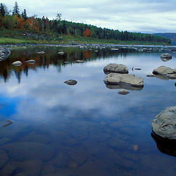 Near Allagash Village, ME. Northern Forest. The St. John River.