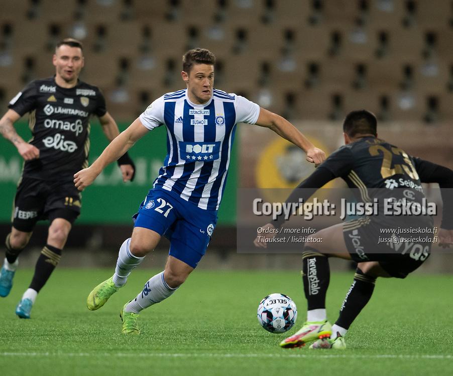 Filip Valencic.  HJK - SJK. Veikkausliiga. Helsinki 3.10.2021. Photo: Jussi Eskola