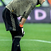 Galatasaray's goalkeeper Ufuk CEYLAN during their Turkish soccer super league match Bursaspor between Galatasaray at Ataturk Stadium in Bursa Turkey on Saturday, 29 January 2011. Photo by TURKPIX
