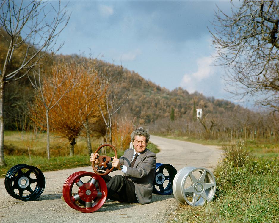 """06 DEC 1991 - Tregnago (VR) - """"MOMO Design"""": Giampiero Moretti."""