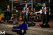 8/15/2019 - Festivities at Encinitas Classic Car Cruise Night included a performance by the Retro Rocketts.