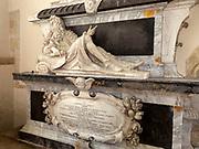 17th century memorial monument to Gulielmus Jones, Ramsbury church, Wiltshire, England, UK