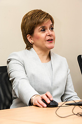 Pictured: First Minister Nicola Sturgeon<br /> <br /> Ahead of the Programme for Government, First Minister Nicola Sturgeon visited  IT company  Digital Net in Edinburgh.  DIgital Net use innovative digital training to upskill their young workforce. During the visit, Ms Sturgeon met modern apprentices taking part in a digital skills lesson in their dedicated digital skills classroom.<br /> <br /> Ger Harley: 5 September 2017