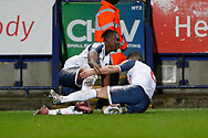 2-2, goal celebration by Yoan Zouma of Bolton Wanderers  during the EFL Sky Bet League 1 match between Bolton Wanderers and AFC Wimbledon at the University of  Bolton Stadium, Bolton, England on 7 December 2019.