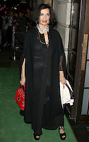 Bianca Jagger, A Green Carpet Challenge BAFTA Night To Remember, BAFTA Piccadilly, London UK, 18 September 2016, Photo by Brett D. Cove
