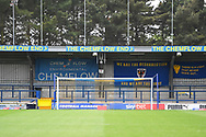 General View of the Cherry Red Records Stadium ahead of the EFL Sky Bet League 1 match between AFC Wimbledon and Wycombe Wanderers at the Cherry Red Records Stadium, Kingston, England on 27 April 2019.