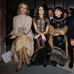 Eva Herzigova, Stacy Martin and Kristin Scott Thomas attend the Christian Dior Haute Couture Spring Summer 2019 show as part of Paris Fashion Week on January 21, 2019 in Paris, France. Photo by Laurent Zabulon/ABACAPRESS.COM