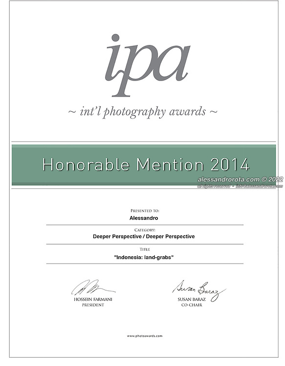Honorable Mention for 'Deeper Perspective' at the International Photography Awards 2014