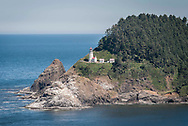 A photograph of the lighthouse at Hecata Head on the Oregon coast
