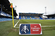 The Emirates FA Cup sigh at Fratton Park during the The FA Cup fourth round match between Portsmouth and Queens Park Rangers at Fratton Park, Portsmouth, England on 26 January 2019.