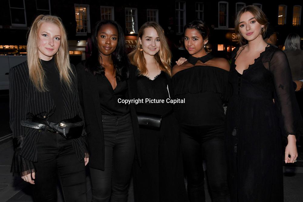 Pop PR interns attend the Fashion Scout - SS19 - London Fashion Week - Day 1, London, UK. 14 September 2018.