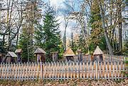Orawski Park Etnograficzny w Zubrzycy Górnej, ule kłodowy typu stojak - najstarsza forma ula
